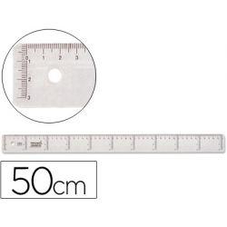 REGLA LIDERPAPEL 50 CM PLASTICO CRISTAL