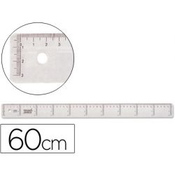 REGLA LIDERPAPEL 60 CM PLASTICO CRISTAL