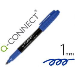 ROTULADOR Q-CONNECT PARA CD/DVD PUNTA FIBRA PERMANENTE AZUL PUNTA REDONDA 1,0 MM