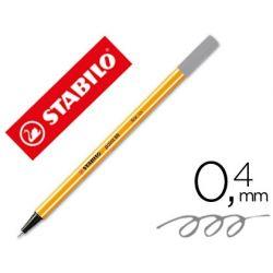 ROTULADOR STABILO PUNTA DE FIBRA POINT 88 GRIS OSCURO 0,4 MM