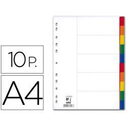 SEPARADOR Q-CONNECT PLASTICO JUEGO DE 10 SEPARADORES DIN A4-MULTITALADRO