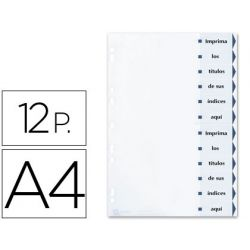 SEPARADOR DE CARTULINA AVERY IMPRIMIBLE 12 SEPARADORES DIN A4