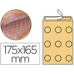 SOBRE BURBUJAS CREMA Q-CONNECT CD 175X165 MM