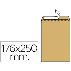 SOBRE LIDERPAPEL BOLSA N.14 KRAFT B5 176X250 MM TIRA DE SILICONA