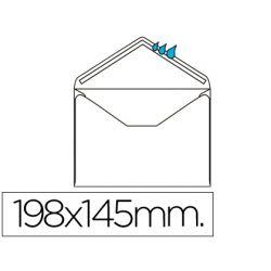SOBRE LIDERPAPEL N.10 BLANCO OFICIO PROLONGADO 145X198MM ENGOMADO SOLAPA DE PICO