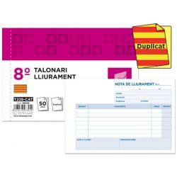 TALONARIO LIDERPAPEL ENTREGAS 8è ORIGINAL Y COPIA T228 TEXTO EN CATALAN