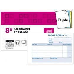 TALONARIO LIDERPAPEL ENTREGAS 8. ORIGINAL Y 2 COPIAS T328