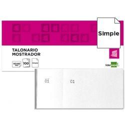 TALONARIO LIDERPAPEL MOSTRADOR 62X145 MM TL02 BLANCO CON MATRIZ