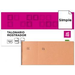 TALONARIO LIDERPAPEL MOSTRADOR 50X110 MM TL10 NARANJA CON MATRIZ