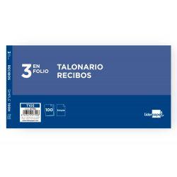 TALONARIO LIDERPAPEL RECIBOS TRES EN FOLIO 105