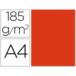 CARTULINA GUARRO DIN-A4 TOMATE 185 GR