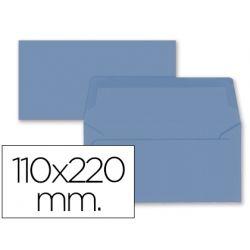 SOBRE LIDERPAPEL AMERICANO AZUL OSCURO 110X220 MM 80 GR