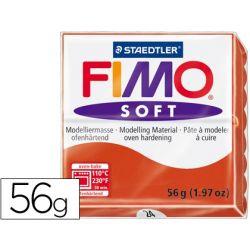 PASTA STAEDTLER FIMO SOFT 56 GR COLOR ROJO INDIAN