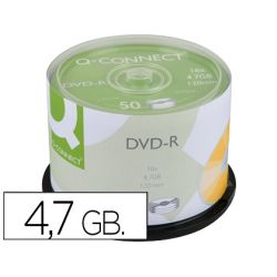 DVD-R Q-CONNECT CAPACIDAD 4,7GB DURACION 120MIN VELOCIDAD 16X
