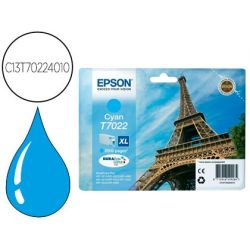 INK-JET EPSON STYLUS T7022 CIAN XL WP-4000 4500 CAPACIDAD 2400 PAG