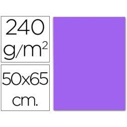 CARTULINA LIDERPAPEL 50X65 CM 240 G/M2 VIOLETA