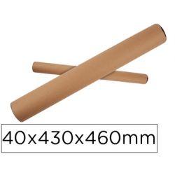TUBO DE CARTON PORTADOCUMENTO TAPA PLASTICO 40X430X460 MM
