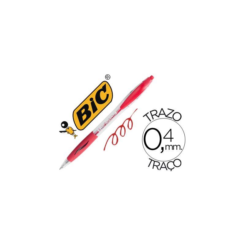 BOLIGRAFO BIC ATLANTIS ROJO RETRACTIL TINTA ACEITE PUNTA DE 1 MM