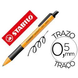 BOLIGRAFO STABILO POINTBALL 0,5 MM COLOR NEGRO