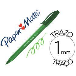 BOLIGRAFO PAPER MATE INKJOY 100 PUNTA MEDIA TRAZO 1 MM VERDE