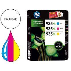 PACK INK-JET HP 935XL OJP 6230 / 6830 AMARILLO CIAN MAGENTA NEGRO -1.200 PAG-