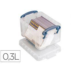 ORGANIZADOR ARCHIVO 2000 PLASTICO TRANSPARENTE CON TAPA0,30 LITROS 65X85X120 MM