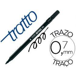 ROTULADOR TRATTO OFFICE FINE PUNTA DE FIBRA TRAZO 0,7 MM NEGRO