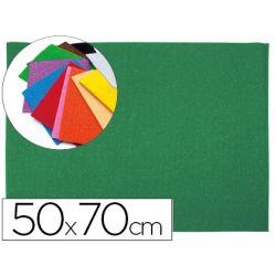 GOMA EVA LIDERPAPEL 50X70CM 60G/M2 ESPESOR 2MM TEXTURA TOALLA VERDE