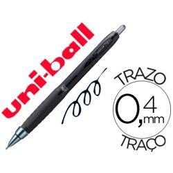 BOLIGRAFO UNI-BALL ROLLER UMN-307 RETRACTIL 0,7 MM TINTA GEL NEGRO