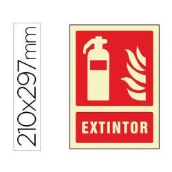 PICTOGRAMA SYSSA SE¾AL DE EXTINTOR EN PVC FOTOLUMINISCENTE 210X297 MM