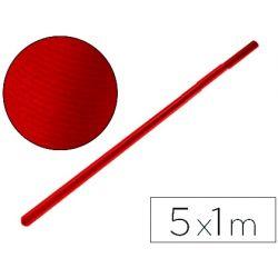 PAPEL KRAFT LIDERPAPEL ROJO CHERRY ROLLO 5X1 MT
