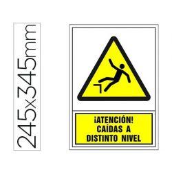 PICTOGRAMA SYSSA SE¾AL DE ADVERTENCIA ATENCION! CAIDAS A DISTINTO NIVEL EN PVC 245X345 MM