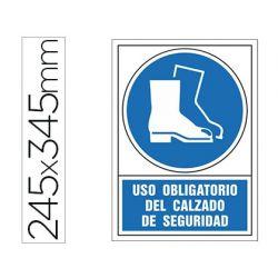PICTOGRAMA SYSSA SE¾AL DE OBLIGACION USO OBLIGATORIO DEL CALZADO DE SEGURIDAD EN PVC 245X345 MM