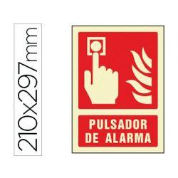 PICTOGRAMA SYSSA SE¾AL DE PULSADOR DE ALARMA EN PVC FOTOLUMINISCENTE 210X297 MM