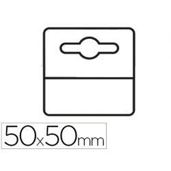 ETIQUETA COLGADOR ADHESIVA 3L OFFICE EN PVC 50X50 MM PACK DE 1000 UNIDADES