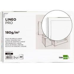 BLOC DIBUJO LIDERPAPEL LINEAL ESPIRAL 230X325MM 20 HOJAS 180 G/M2 CON RECUADRO