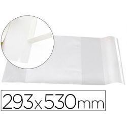 Forralibro liderpapel nº29 con solapa ajustable adhesivo 293 x 530 mm.