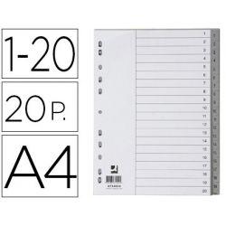 SEPARADOR NUMERICO Q-CONNECT PLASTICO 1-20 JUEGO DE 20 SEPARADORES DIN A4 -MULTITALADRO