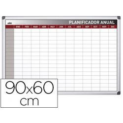 PLANNING ROCADA ANUAL MAGNETICO ROTULABLE MARCO DE ALUMINIO 90X60 CM