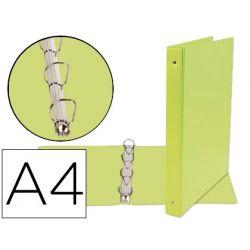 CARPETA DE 4 ANILLAS 25 MM MIXTAS LIDERPAPEL A4 CARTON FORRADO PVC VERDE