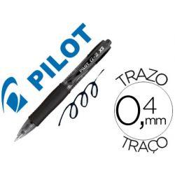 BOLIGRAFO PILOT G-2 PIXIE NEGRO TINTA GEL RETRACTIL SUJECION DE CAUCHO