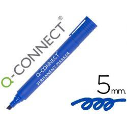 ROTULADOR Q-CONNECT MARCADOR PERMANENTE AZUL PUNTA BISELADA 5.0 MM