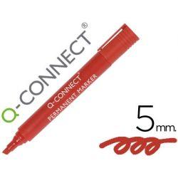 ROTULADOR Q-CONNECT MARCADOR PERMANENTE ROJO PUNTA BISELADA 5.0 MM
