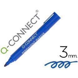 ROTULADOR Q-CONNECT MARCADOR PERMANENTE AZUL PUNTA REDONDA 3.0 MM