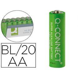 PILA Q-CONNECT ALCALINA AA -PAQUETE CON 20 PILAS