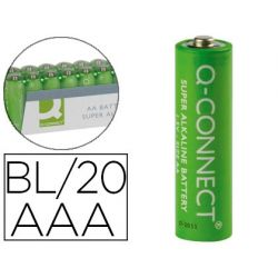 PILA Q-CONNECT ALCALINA AAA -PAQUETE CON 20 PILAS