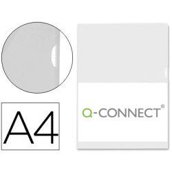 CARPETA DOSSIER UÑERO PLASTICO Q-CONNECT DIN A4 120 MICRAS TRANSPARENTE