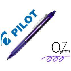 BOLIGRAFO PILOT FRIXION CLICKER BORRABLE 0,7 MM COLOR VIOLETA EN BLISTER