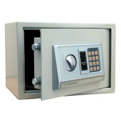 CAJA DE SEGURIDAD Q-CONNECT ELECTRONICA CAPACIDAD 10L 310X200X200 MM CON ACCESORIOS PARA FIJAR