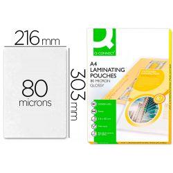 BOLSA DE PLASTIFICAR Q-CONNECT 303 X 216 MM 80 MC DIN A4